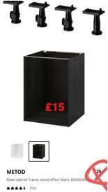 New and unused ikea metod kitchen base unit 60x60x80