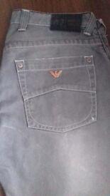Mens grey Armani jeans