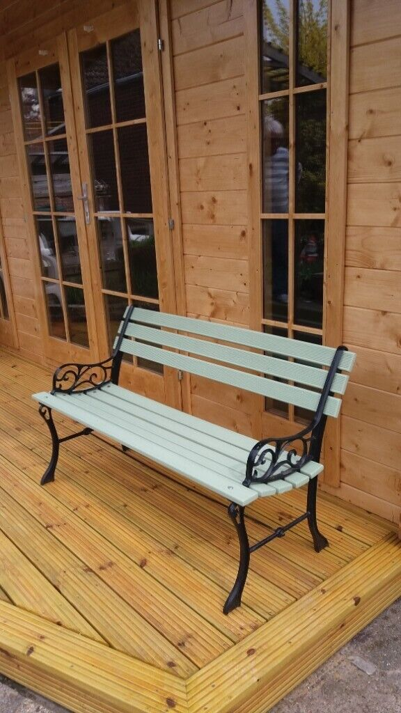 Strange Garden Bench Cast Iron Vintage With New Wooden Slats Refurbished In Norwich Norfolk Gumtree Caraccident5 Cool Chair Designs And Ideas Caraccident5Info