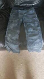 Boys Ages 7-8 Blue Camouflage Trousers