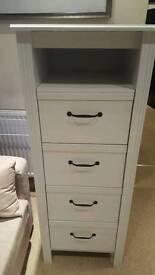 Ikea white tallboy drawers
