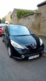 Black Peugeot 207 1.4 16v SE 5dr (2008)
