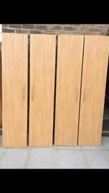 Wardrobe doors perfect condition X4