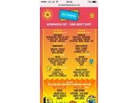 4 x weekend camping tickets for sundown