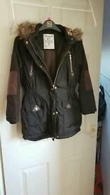 Girls warm winter jacket age 9-10