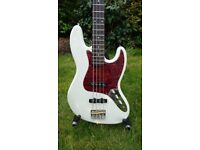 White Jazz Bass: