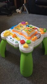 Activity table- used, new bath seat, new little tykes crab and the shapes have gone for the walker