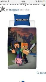 Minecraft single duvet set