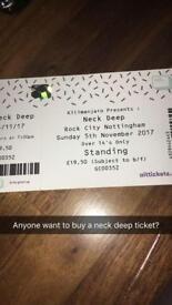 Neck deep Ticket at rock city