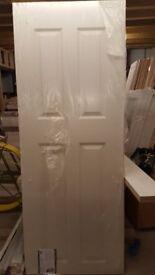 "Brand New Premdor 2'9"" Heavy Weight smooth 4 panel internal doors (8 no. in total)"