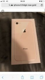 iPhone 8 Rose Gold 64gb Locked EE