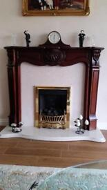 French Louis Style Fireplace Hardwood Fire Surround