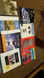 Bundle of childhood pracrice books, psychology and sociology books