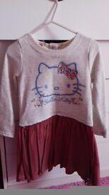 new hello kitty dress 2-3 years