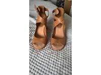 Organza Shawl Sandals Tan