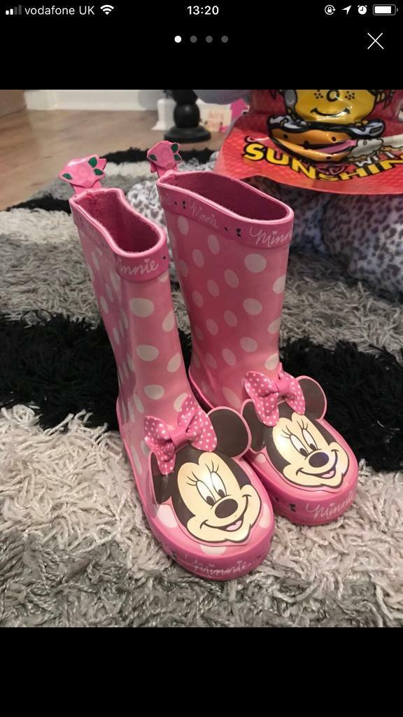 Girls Minnie Mouse wellies