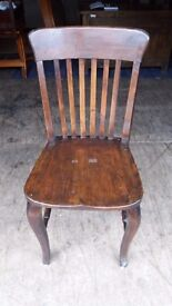 Antique 1920's office / desk chair, solid saddle seat, FREE LOCAL DELIVERY !