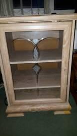 Wooden Cabinet with Glass Door