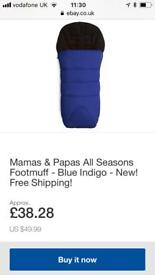 Mamas and papas all seasons footmuff