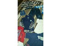 bundle of boys clothing age 3-4 smoke and pet free home 13 items coats jeans shoes next m & s