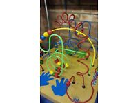 Bead maze play table