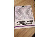 Open University Psychology Books x3- INVESTIGATING METHODS, PSYCHOLOGY AND INTELLIGENCE