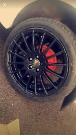"Oz supertorismo gt 17"" lightweight alloy wheels."