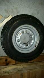 Trailer spare wheel