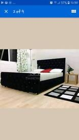 Diamond fabric upholster bed frame