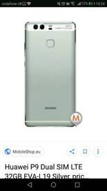 Huawei p9 32GB silver phone New condition