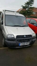 Fiat doblo cargo van for parts only