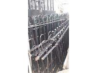 Cast Iron Black Hooped Railings
