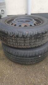 Toyota yaris steel wheels and tyres