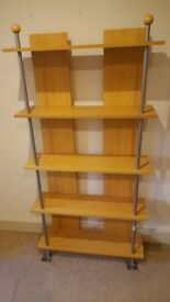 2 x Beech/pine effect bookcases. £15 each or £20 for both
