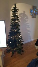 Wilkinsons 6ft slim space saving green Christmas tree