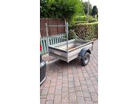 Wessex trailer 5ft x 3ft with front frame ladder support, 500kg loading, good all round condition