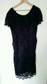 Brand new without tags navy maternity dress