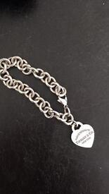 Tiffany and co 925 heart pendant bracelet