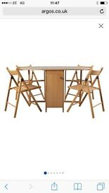 butterfly oval dining table and 4 chairs