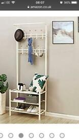 Songmics Metal Hall Tree Entryway Organizer Multifunctional Stand