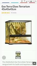Complete exo terra reptile set up 45x45x45cm