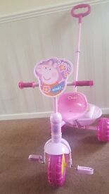 PEPPA PIG TRIKE WITH REMOVEABLE PARENTAL HANDLE