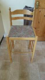 Wooden kitchen Stools/chairs Set of 4