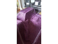 Extra Large Burgundy / Wine / Purple Quilted Silky Throw