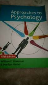 Approaches to Psychology book