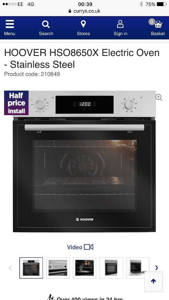 Brand new hoover oven hso8650x