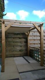 Garden Pergola. Thick Treated Timber. 1.8 x 1.8 x 1.8m