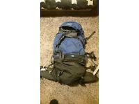 Kathmandu 70L Backpack - Interloper Gluon, Blue Travel Rucksack