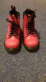 Girls Infant size 8 Bright Pink DM boots