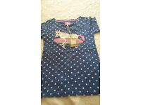 JOULES girls short sleeve top NEW with tag
